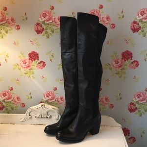 🌟NWOT🌟 Over The Knee Boots -  black leather 🌟